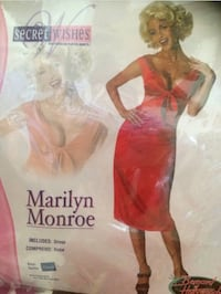 New - Marilyn Monroe Red Dress Costume Size XS Washington, 20007