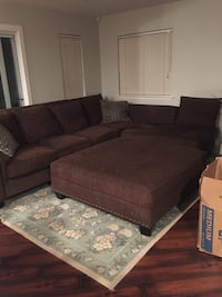 Sectional 11' x 8' with ottoman Antelope