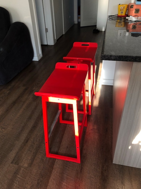 IKEA set of two red stools