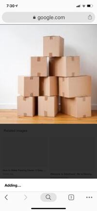 Moving boxes various sizes