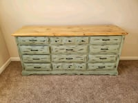 Price reduced: Olive 12-drawer solid wood dresser Doylestown, 18902