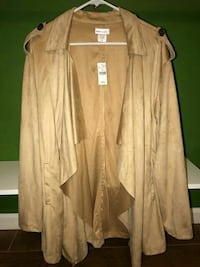 Women's plus size khaki beige velvet coat Fort Washington, 20744