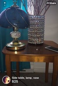 brass and black table lamp London, N6H 4W1