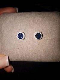 Authentic Swarovski blue crystal earrings Mississauga, L5C 4T1