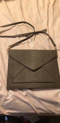 black and gray leather crossbody bag New Bedford, 02740