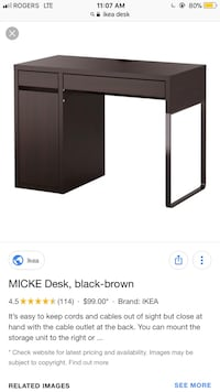 Black wooden desk GREAT CONDITION Surrey, V3V