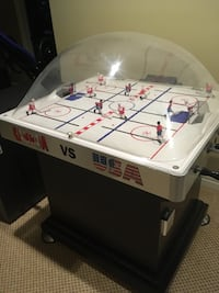 Bubble hockey game.