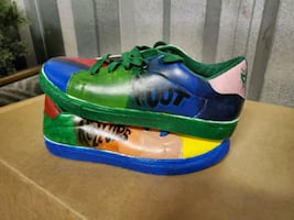 Custom fruit roll up sneakers size 10