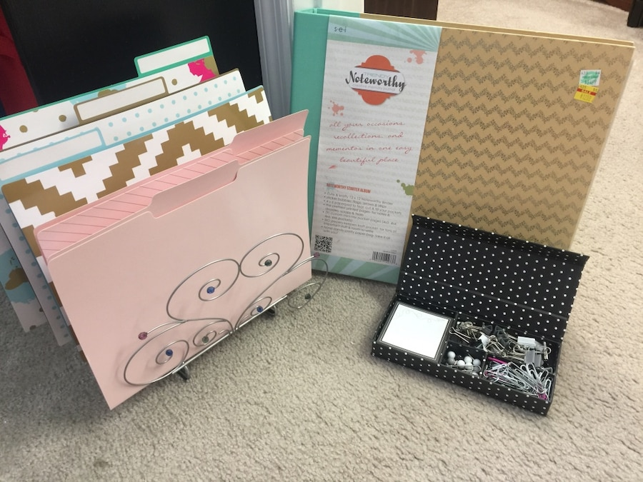 Trendy office and scrapbook supplies
