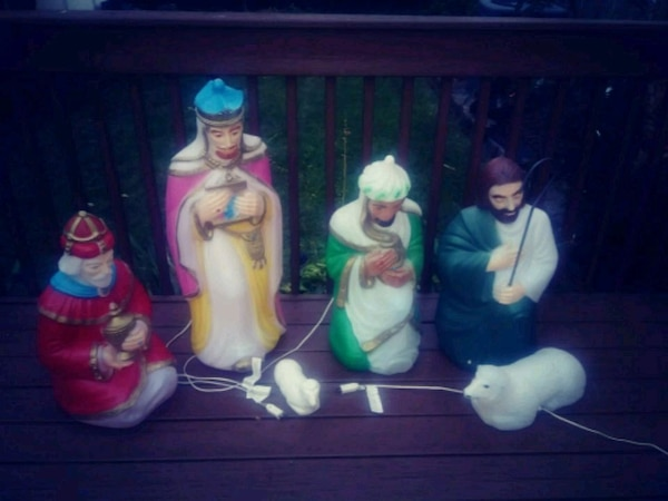 Used Vintage Christmas Nativity blow mold yard decor for sale in Clifton - letgo