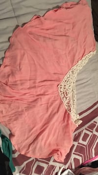 white and pink floral-lace poncho McAllen, 78501
