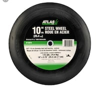 Atlas AT-0069 10-in x 1.75-in Replacement Steel Lawn Mower Wheel with Centered Ball Bearings Mississauga, L5J