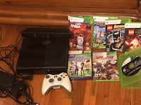 Xbox 360 console with controller and game cases Snellville, 30078