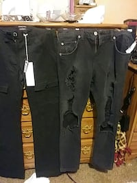 black and gray denim jeans Campbell, 44405