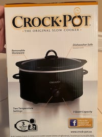Crock pot the original slow cooker brand new still sealed from a smoke and pet free home! Vaughan, L4H 1P5