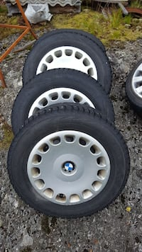 Chrome BMW multi-spoke bil hjul og dekk sett