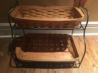 Longaberger Baskets with Rack