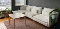 IKEA Soderhamn sofa, with chaise, white