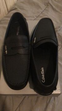 Pair of black leather loafers Boston, 02128