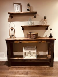 Hall table/console and shelves