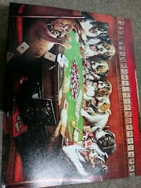 Tin vintage poker dogs poster.