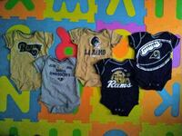 L.A. Rams 3-6 Month Old Matching Onesies 2230 mi