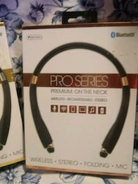 black and red wireless stereo headset box Lincoln
