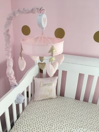 Lambs & Ivy Baby Love Heart Musical Mobile - Pink/Gold Toronto