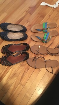 women's four pairs of flat shoes and sandals Québec, G1V 1T1