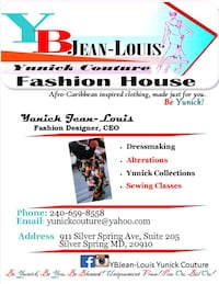 Fashion Design, Dressmaking, and Alterations Silver Spring