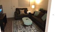 Brown studded couch and love seat Bakersfield