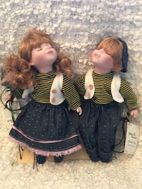 Brand new with tags limited edition golden keepsakes heirloom porcelain dolls North Bergen, 07047