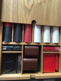 Wood Vintage Backgammon and Checkers set