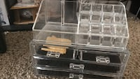 stainless steel tool cabinet with clear plastic organizer Warr Acres, 73132