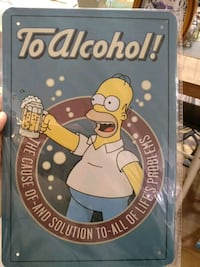 blue The Simpsons To Alcohol poster Montréal, H2W 1X8