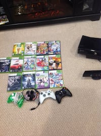 Xbox 360 console with controller and games Hamilton, L9C 1M9
