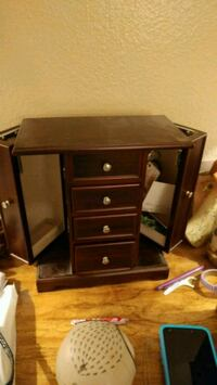 brown wooden single pedestal desk Kissimmee, 34741