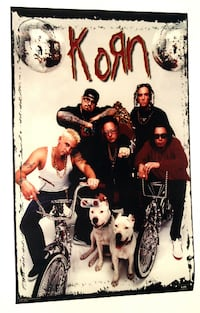 KORN GROUP BIKES POSTER FROM 1998 Toronto