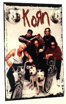 KORN GROUP BIKES POSTER FROM 1998