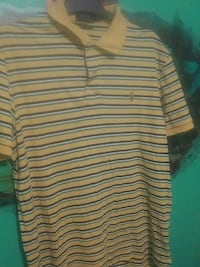 yellow, white, and black striped collared shirt Laval, H7W 4A7