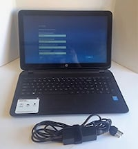 black HP laptop with charger Sterling, 20164
