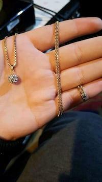 10k Gold Chain with Sparkly Charm Regina