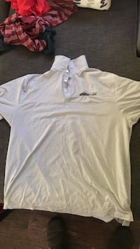 White and gray striped polo shirt Temple City, 91780