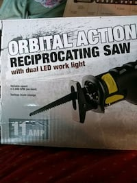 Reciprocating saw with dual led work light  Warren, 44481