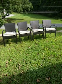 4 NEW Dark Brown Resin Wicker chairs Aspen Hill, 20906