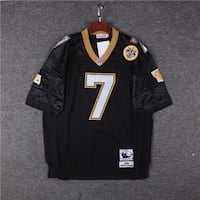 MITCHELL NFL THROWBACK 1991 MORTEN ANDERSEN MESHED BLACK TEES JERSEY X