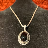 Antique Sterling Silver & Black Onyx Pendant Ashburn, 20147
