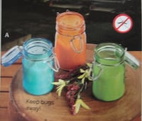 new citronella glass jar candles