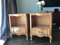 """Delivery - 27 1/4""""high antique pair of French night stands  Toronto, M9B 3C6"""
