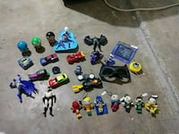 assorted plastic toy collection with box Killeen, 76543